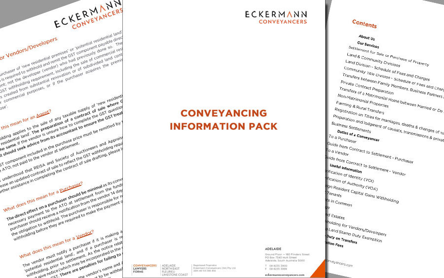 The new SA Conveyancing Information Pack: It's like an almanac for everybody in real estate image