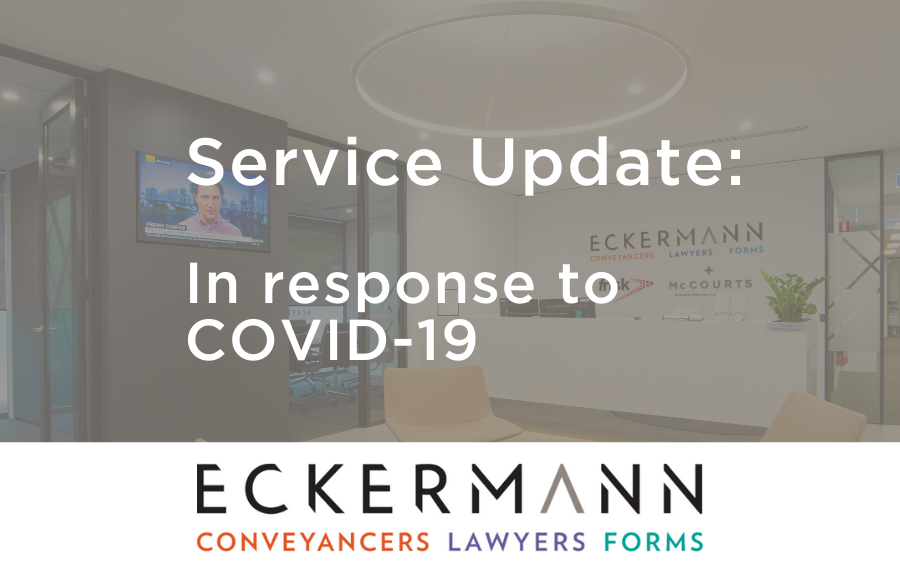Service Update – In response to COVID-19 image